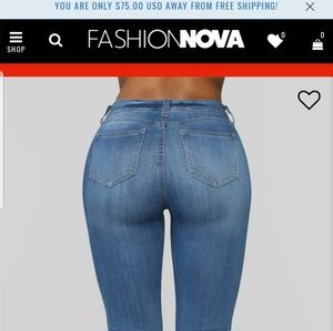 Celebrity pink mid-rise flare Fashion Nova jeans